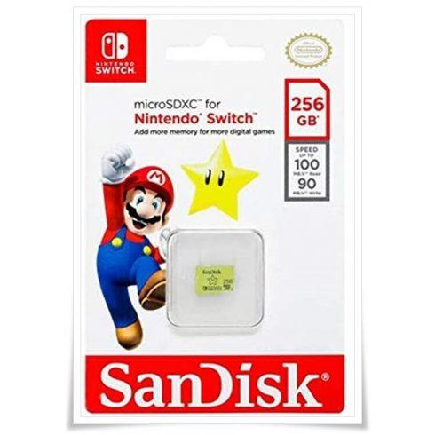 SanDisk microSDXC Nintendo Switch 256GB A1/C10/V30 SDSQXAO-256G-GNCZN
