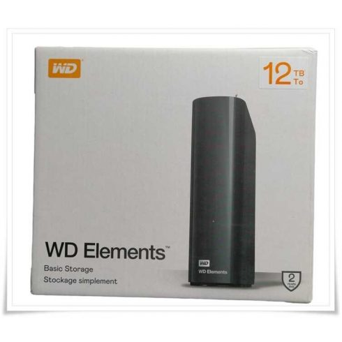 Western Digital WD Elements Desktop Hard Drive 12TB USB 3.0 (WDBWLG0120HBK-EESN)