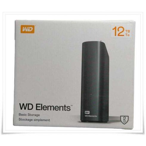 Western Digital WD Elements Desktop Hard Drive 12TB USB 3.0 (WDBWLG0120HBK-EESN)